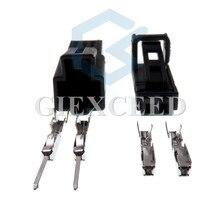 2 conjuntos de 2 pinos 4b0971832/4b0 971 832/4e0 972 575 porta lâmpada soquete interior led luz plug alto-falante conector para audi vw skoda