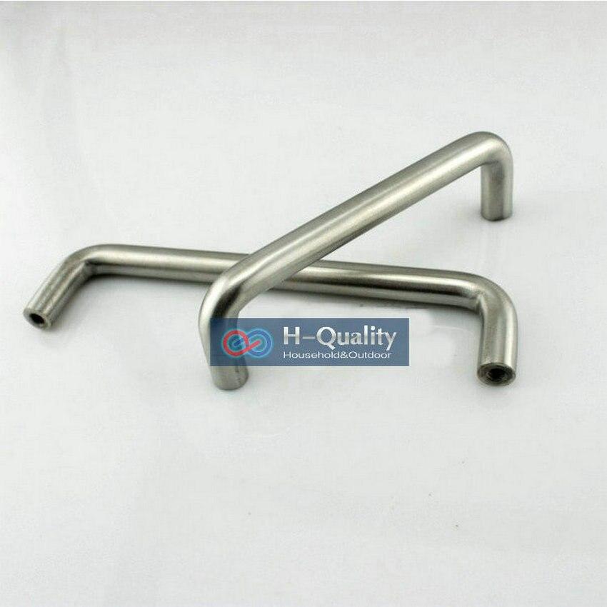 Однотонная ручка 5 шт./лот длина 192 мм ручка для мебели из нержавеющей стали Ручка для ящика Ручка для шкафа выдвижной ящик с бесплатными винт...