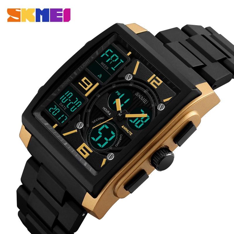 SKMEI Sports Watches Men Top Brand Luxury Military Watch Clock Male LED Digital Quartz Wrist Watch Man reloj hombre 2017