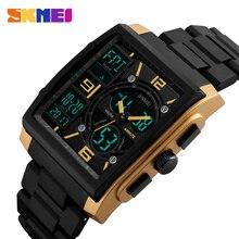 SKMEI sport montres hommes Top marque de luxe militaire montre horloge mâle LED numérique Quartz montre-bracelet homme reloj hombre 2017