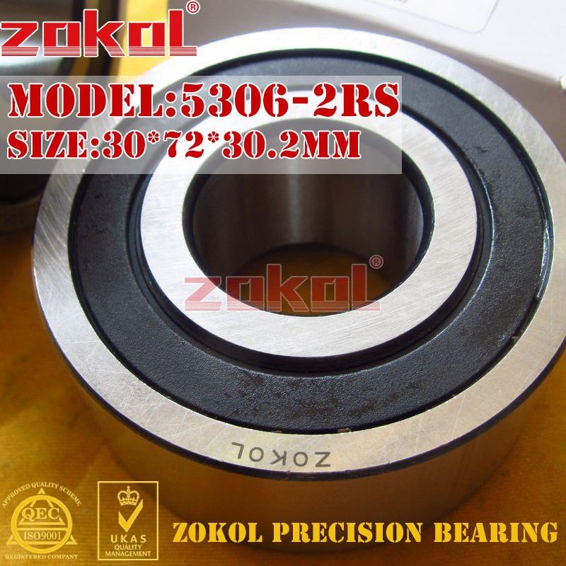 Rodamiento ZOKOL 5306 2RS 3306 2RZ (3056306) rodamiento de bolas de contacto Angular Axial 30*72*30,2mm