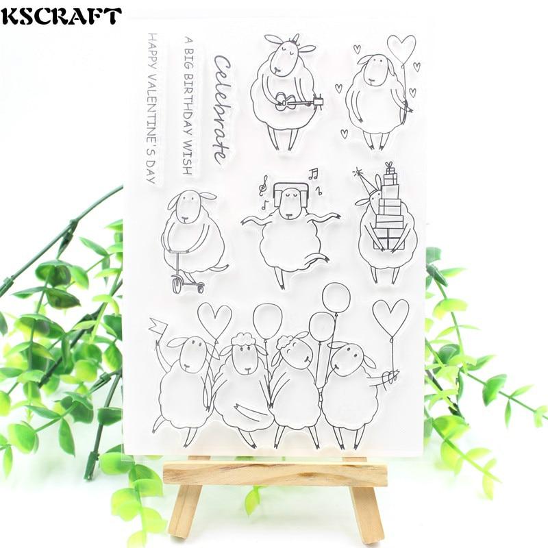 Прозрачные силиконовые марки ksccraft для скрапбукинга/изготовления карт, Детские забавные украшения, 149