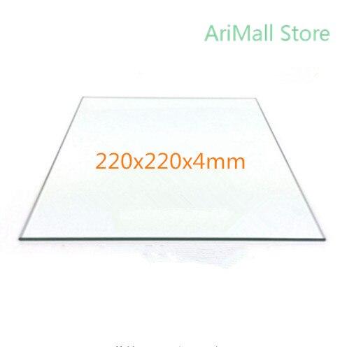 Plataforma para impresora 3D cama de impresión 220x220x4mm placa de vidrio borosilicato cama caliente para impresora 3D Flashforge MK2 MK3 Reprap