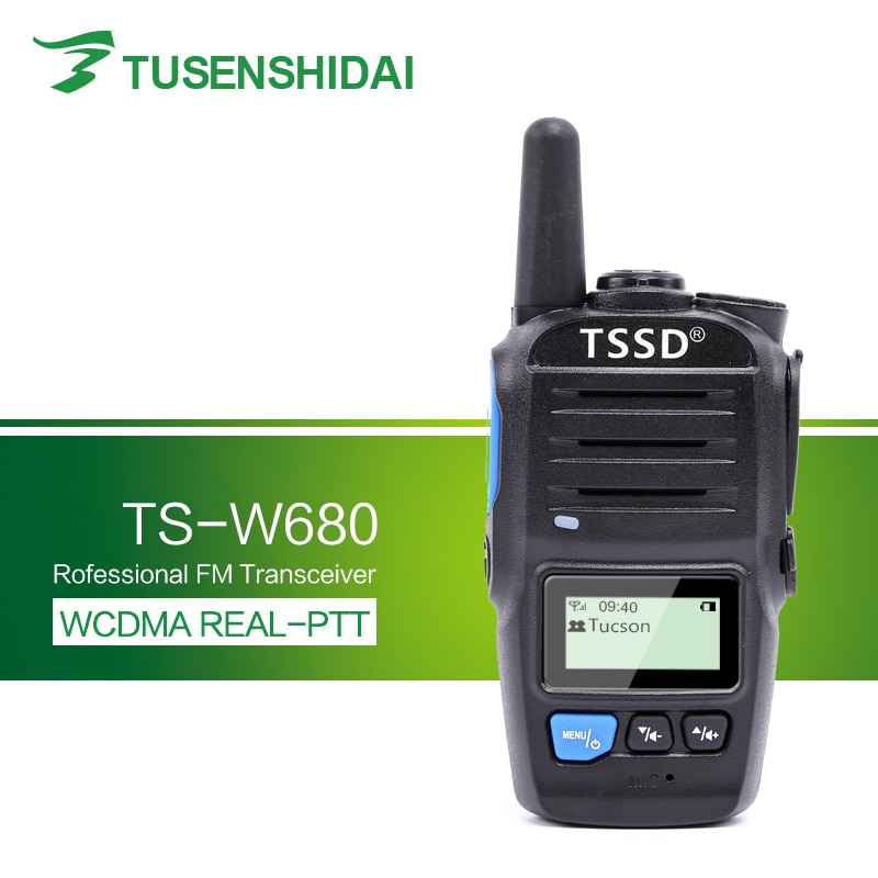 Nueva llegada GSM/3G Sim tarjeta inteligente de PTT WCDMA portátil Walkie Talkie TS-W680
