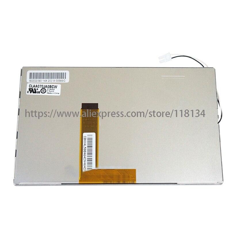 Original polegada 26pin LCD Tela 7 E203460 CLAA070JA0BCW CLAA070JA08CW 7610007802 para BYD S6 F6 Sistema de Navegação Do GPS Do Carro