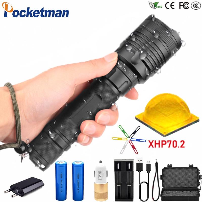 80000LM High-power LED Taktische Taschenlampe Wasserdichte Zoom in der lage 3 Modi LED Taschenlampe für Camp Tour FÜHRTE Taschenlampe z45
