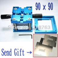 Send three stencil with handle BGA reballing station with hand shank BGA tin fixture