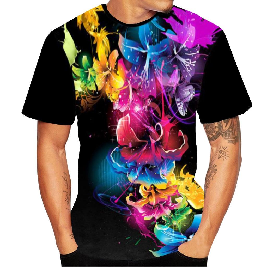 Camiseta Harajuku de verano para hombre, camiseta de manga corta con estampado 3D para hombre, camisetas divertidas para hombre, ropa deportiva para hombre 2019