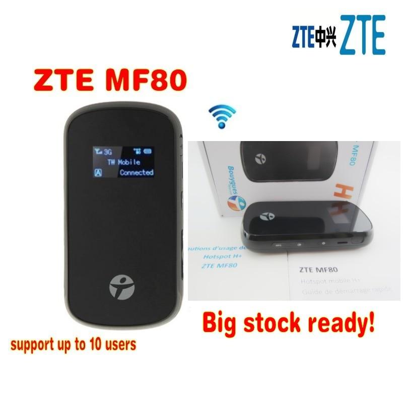 ZTE MF80 نقطة اتصال محمولة 42Mbps + 10 واي فاي الوصول + هوائي TS9 نوع