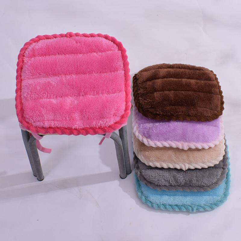 Однотонная Толстая Подушка для стула, высокое качество, подушка для стула, детская подушка для сиденья, нескользящая Милая подушка для дома, декор 28x2 8/33x33 см
