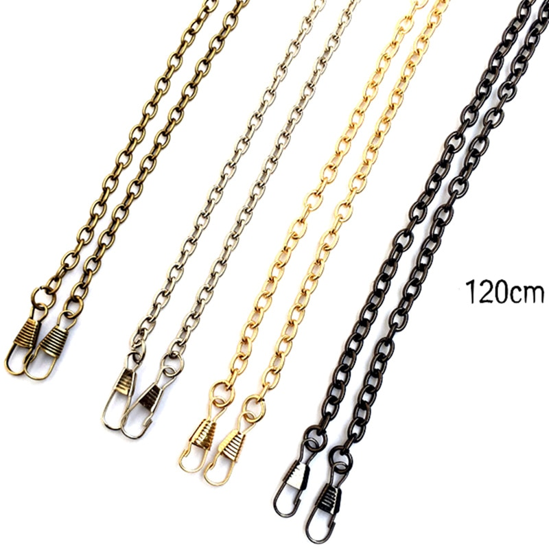 120cm Metal Purse Strap Chain Replacement for Handbag Clutch Shoulder Bag Bronze/Silver/Gold/Gunmetal Tone Hardware Accessories