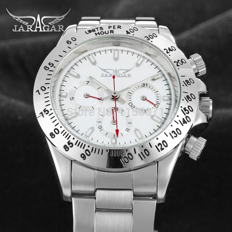 JAG6903M4S2  new popular Jaragar  Automatic men watch factory stainless steel band best price free shipping with  gift box