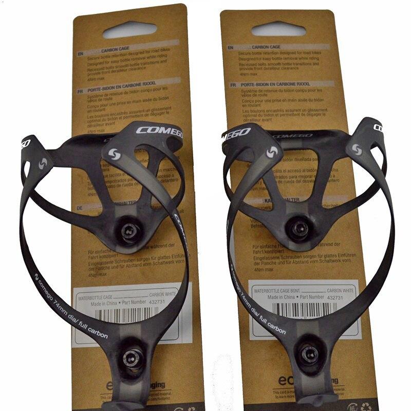 2 uds gran oferta botella de fibra de carbono completa jaula accesorios de soporte para bicicleta con paquete acabado mate 2 colores 16g