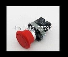 Bouton rouge tourner pour relâcher 1N/C   Bouton-poussoir rouge anti-urgence, remplacer le bouton-poussoir champignon, téléecanique