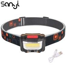SANYI lampe de poche à tête de bicyclette, Mini prise USB, led Rechargeable, corps de la lampe de poche avec câble de chargement USB