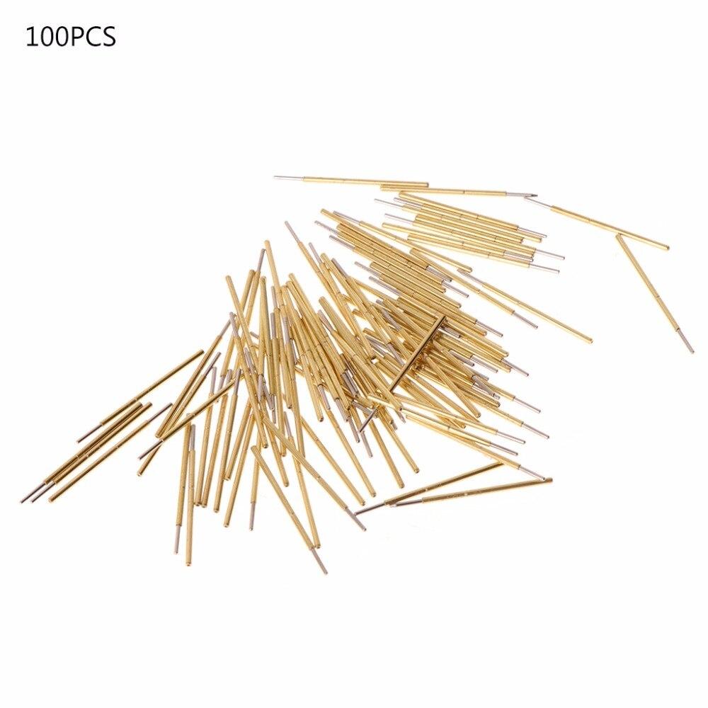 ¡Venta al por mayor! 100 unids/lote P50-J1 diámetro 0,68mm longitud 16mm resorte sonda de contacto perno de cabeza redonda para pruebas de PCB primavera sonda Pins