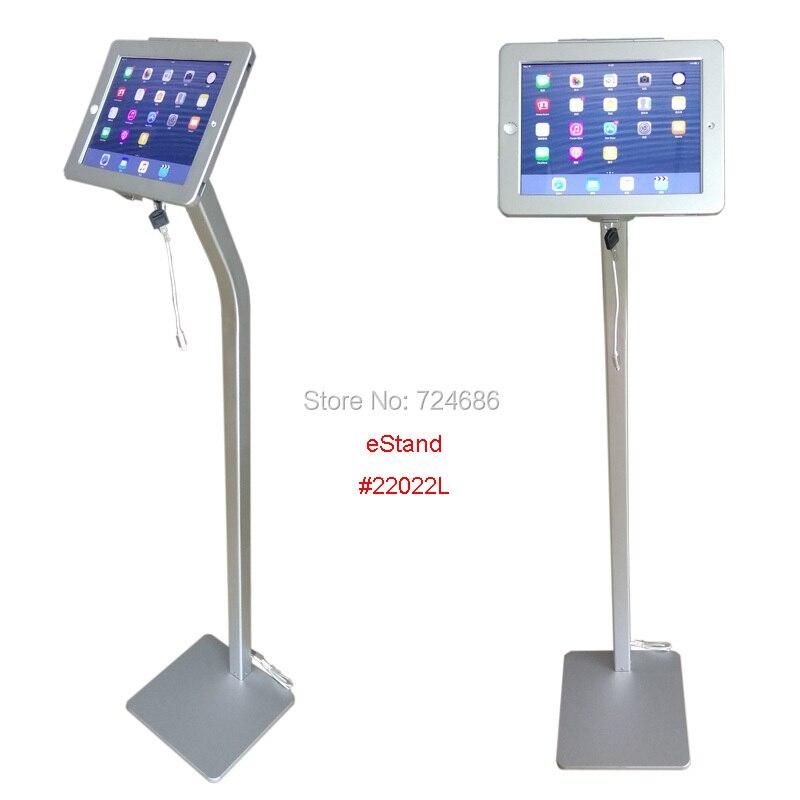 """Para iPad 2/3/4/air/pro 9,7 """"Soporte de suelo de seguridad con cable de carga pantalla antirrobo kiosco en banco o tienda"""