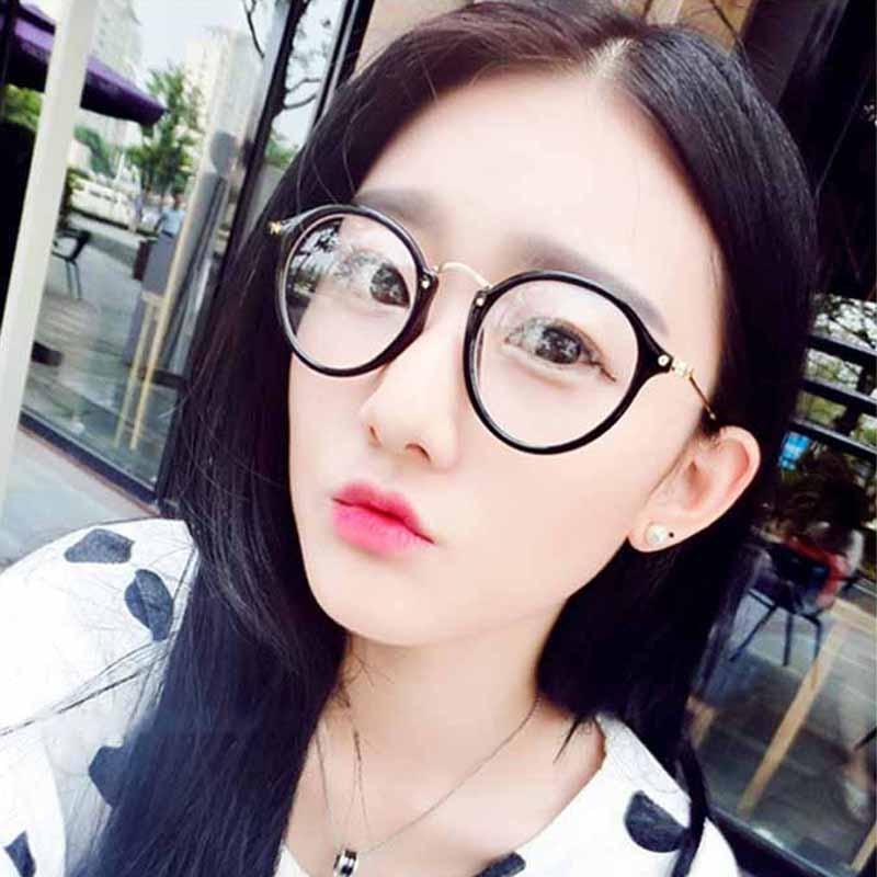 Feishini rétro myopie lunettes cadres hommes rond clair Vision optique lunettes cadre femmes Vintage Prescription Transparent 2447