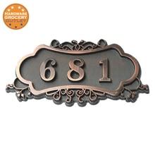 Numéro de maison Style européen porte signe porte numéro sur mesure 3 à 4 numéros 3D numérique appartement maison hôtel Villa plaque de porte
