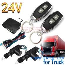 Système dentrée sans clé télécommande à 2 boutons   Pour camion de 24V, véhicule de Construction universel 2 portes verrouillage déverrouillage CHADWICK 8110