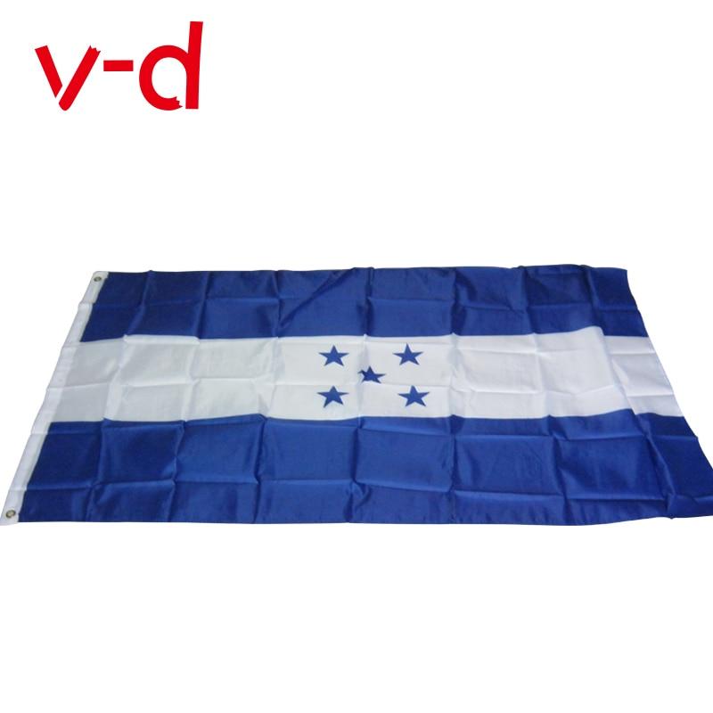 Бесплатная доставка, флаг Гондураса xvggdg, 90*150 см, фотомагазин продается, флаги мира, изготовление под заказ, полиэстер