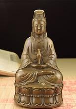 Siège chinois en laiton   Statue de la déesse Bodhisattva Kwan-yin Guanyin Quan Yin