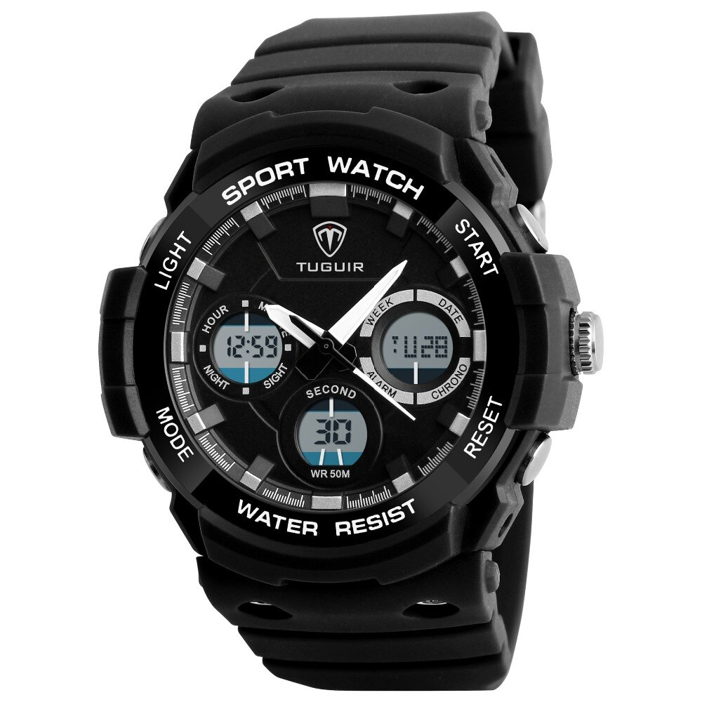 Famosa marca TUGUIR 2025, Reloj simple e informal, resistente al agua, reloj digital para hombre, reloj deportivo multifunción para mujer, reloj masculino