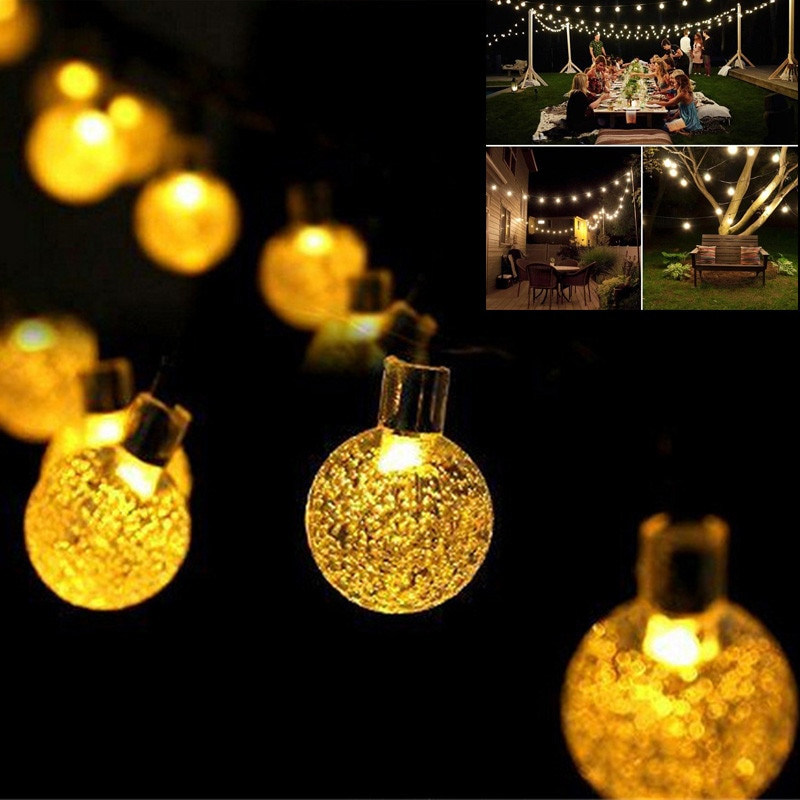 Solar Lights for Garden Decoration Bulb Waterproof 20LED 5M 2Modes Fairy String Party Christmas Tree lights