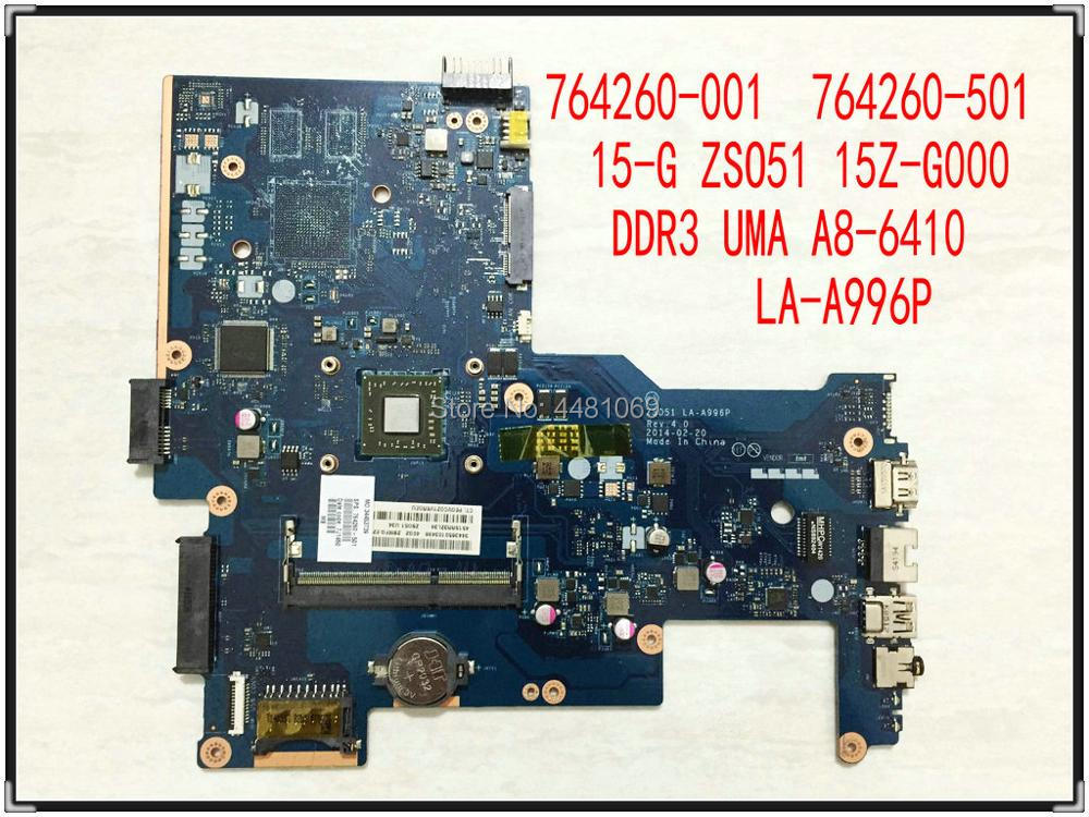 ZSO51 LA-A996P ل HP 15-G سلسلة 15Z-G000 دفتر 764260-601 764260-501 764260-001 UMA A8-6410 محمول اللوحة اختبار