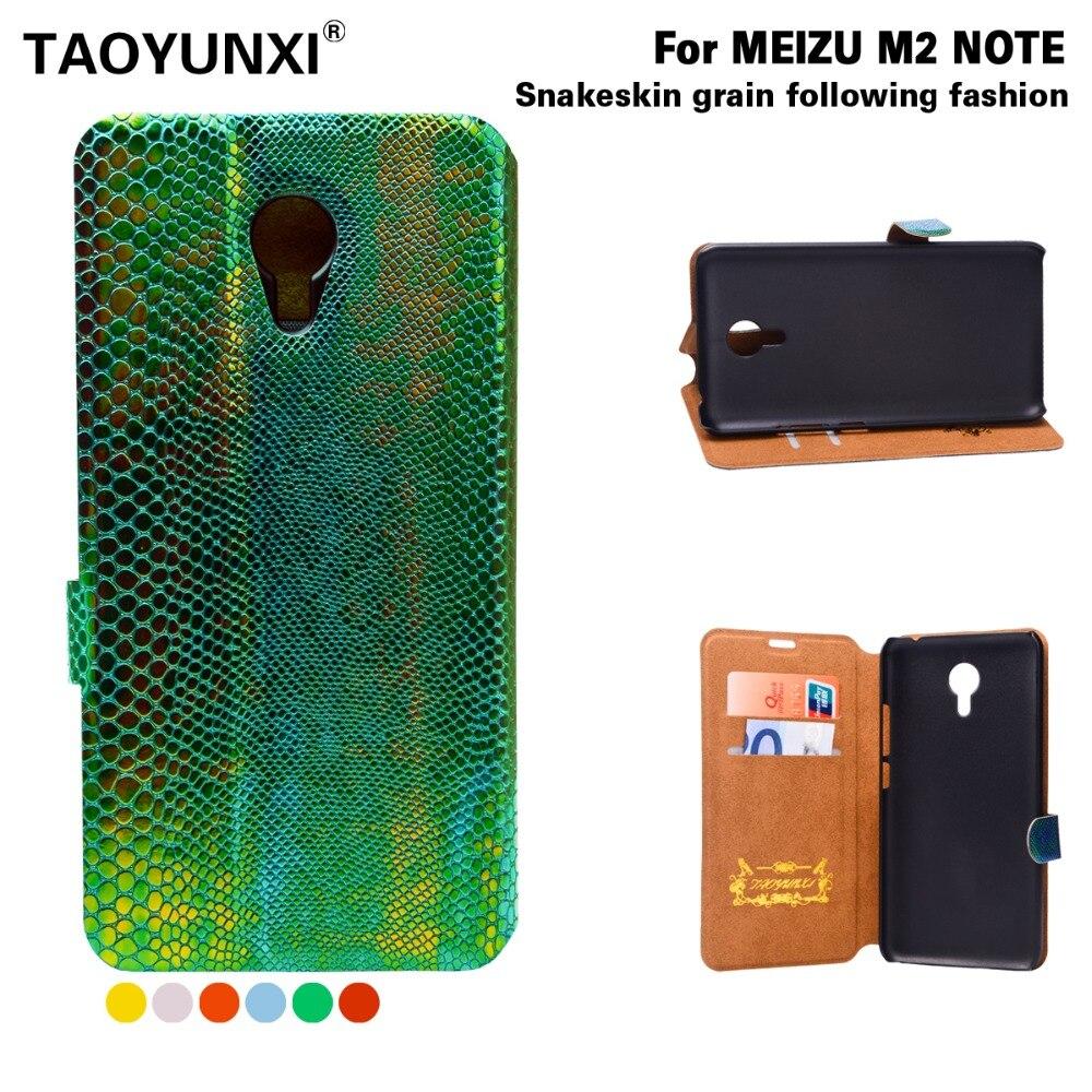 Funda de cuero de serpiente de lujo para Meizu Meilan M2 Note M2 Mini MX4 MX5 fundas tipo billetera con tapa y ranura para tarjetas