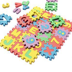 1 комплект, детский игрушка пазл мозайка Ева коврик цифры + буквы напольные коврики для ползания коврики ковер EVA Разделение шарнир