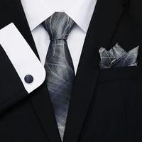 100 silk tie 8cm tie set paisley floral necktie handkerchief ties set men cotton cravat neckties mens 2019 gravatas