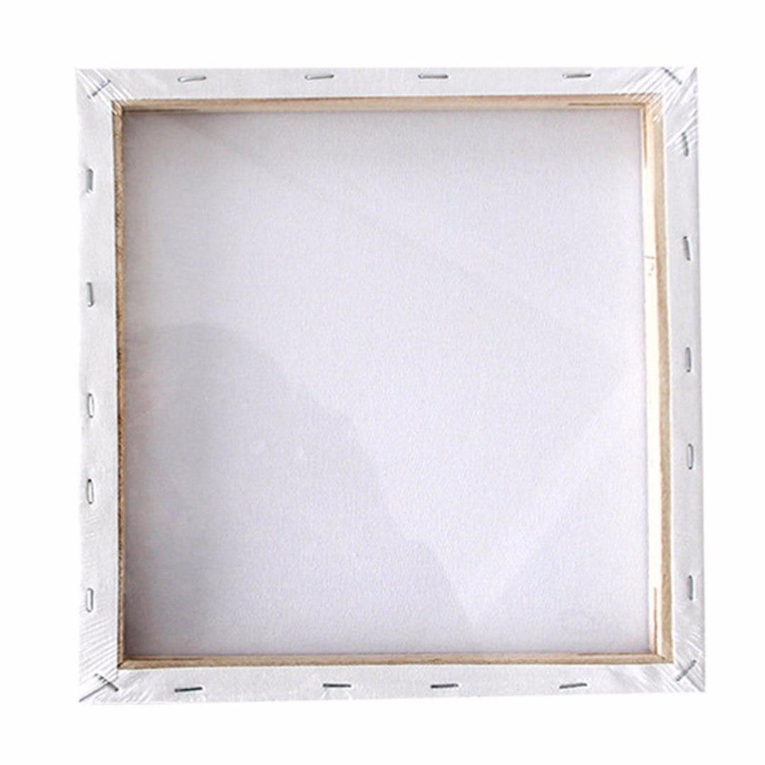 1 tablero de arte pequeño blanco en blanco lienzo cuadrado tablero de madera marco imprimado para pintura al óleo acrílica Mayitr tableros de pintura
