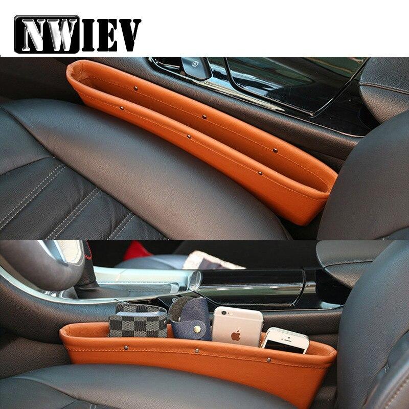 NWIEV bolsillo de asiento de coche brecha a prueba de fugas caja para Opel Astra H G J Volvo S60 V70 XC90 Honda Civic Citroen C5 C4 C3 Subaru Accesorios