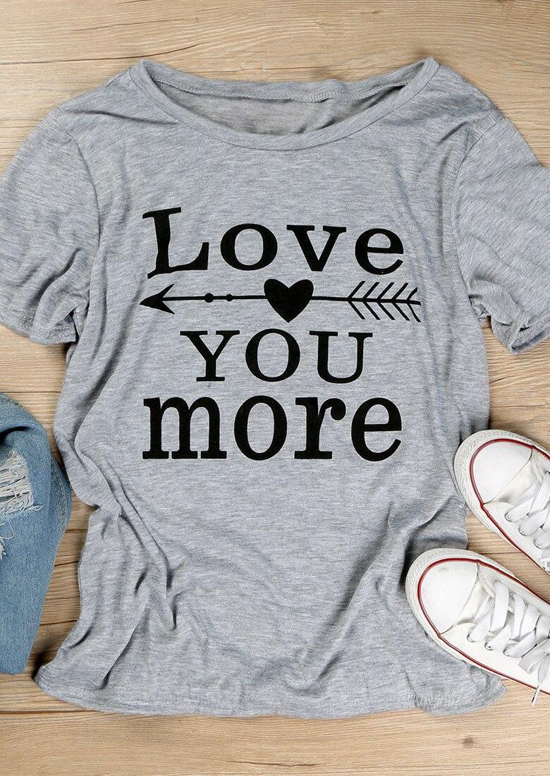 Camiseta de flecha Love You More, camiseta gráfica con eslogan para boda del Escuadrón tribal de la novia, camisetas de estilo gótico Grunge a la moda para mujer