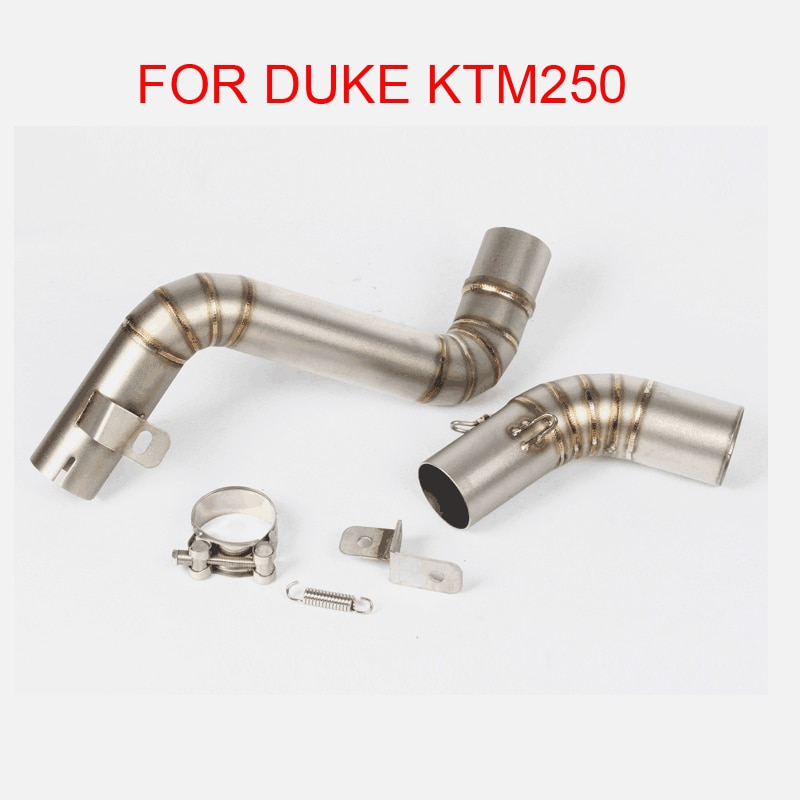 Motorcycle Exhaust Full System Slip On Middle Link Pipe For DUKE KTM250 KTM200 KTM390 For Drop Shipping