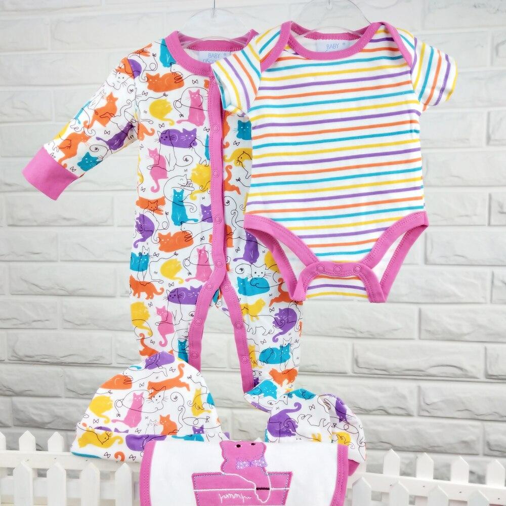 Conjunto de ropa para bebé recién nacido 100% de algodón para bebé mameluco para dormir