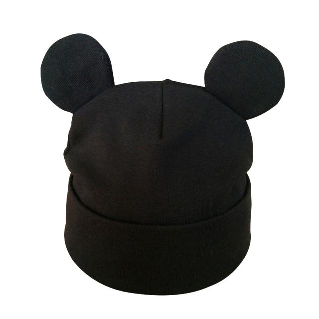 Autumn Winter Baby Boy Girl Cartoon Cotton Hat With Ear Toddler Kids Beanie Caps Children's Accessories