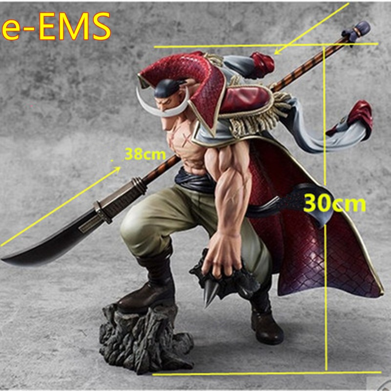 Anime Edward Newgate Whitebeard Combat Version Statue PVC Action Figure Model Toy G2445