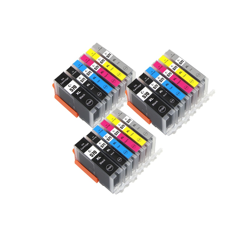6 color PGI 570 CLI 571 PGI-570BK compatible ink cartridge for canon PIXMA MG7750 MG7751 MG7752 MG7753 TS8050 TS8051 printer