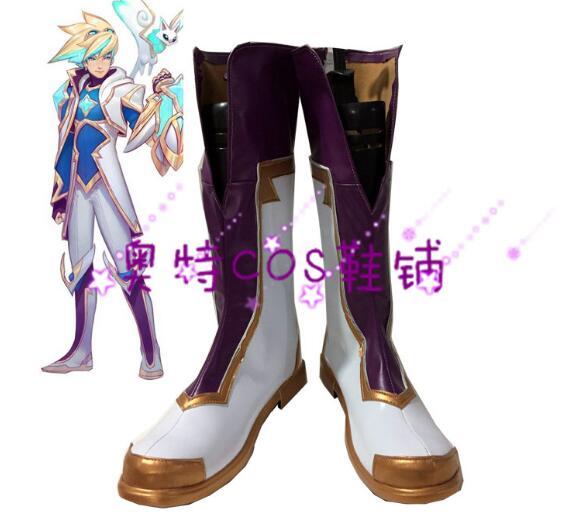 LOL Concha Ezreal botas estrella guardián Cosplay zapatos