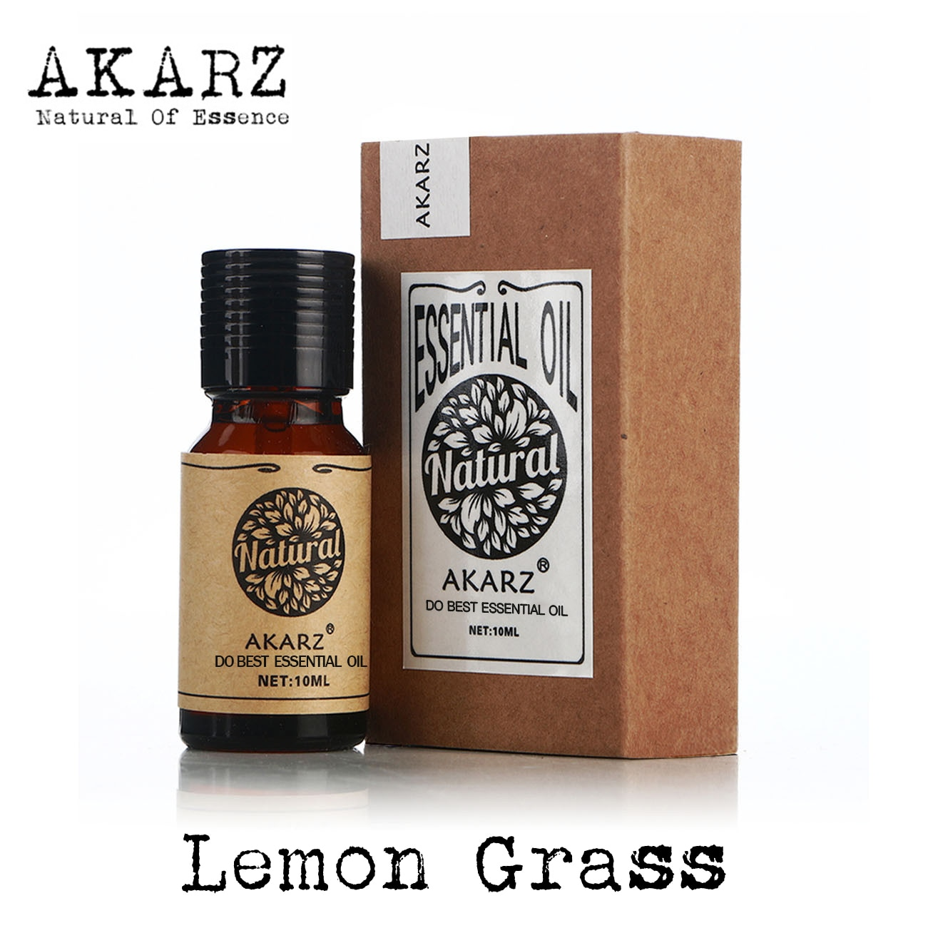 AKARZ Famous brand natural aromatherapy lemon grass essential oil Prevent beriberi Mosquito repellen