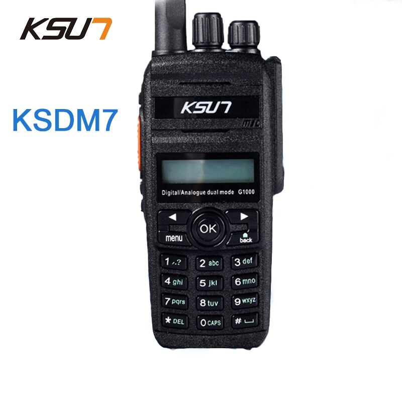 KSUN-جهاز اتصال لاسلكي رقمي 400-470 ميجا هرتز KSDM7 ، راديو محمول باليد DMR ، جهاز إرسال لاسلكي رقمي ثنائي الاتجاه