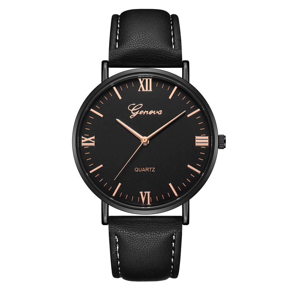 Reloj de pulsera de cuarzo militar de Esfera Grande a la moda 2018 para hombre, Reloj deportivo de cuero, Reloj de pulsera clásico, Reloj Masculino y Ff