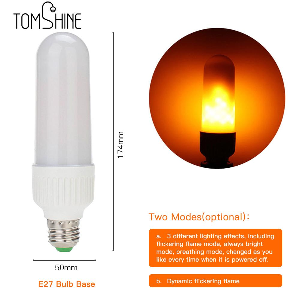 Dynamic Flame Effect LED Corn light Bulb Lamp E27 E26 Simulation Fire Burning Flicker Creative Decorative Atmosphere Lamp
