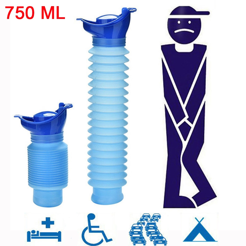 Alta calidad 750ml portátil adulto urinario al aire libre Camping viaje orina coche orina suave baño orina ayuda hombres inodoro #20