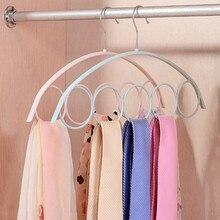 Shawl Scarf Hanger Belt Tie 5 Ring Rack Organizer Holder Hook Display Hangar 41x23cm clothes hanger colgador de ropa 2020 NEW
