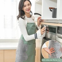 vanzlife Thickening apron kitchen oil waterproof wai belt hands overalls adult household cartoon cooking overall