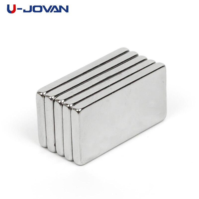 U-JOVAN 10pcs 20 x 10 x 2mm N35 Super Strong Rare Earth Magnet Block Powerful Neodymium Magnets