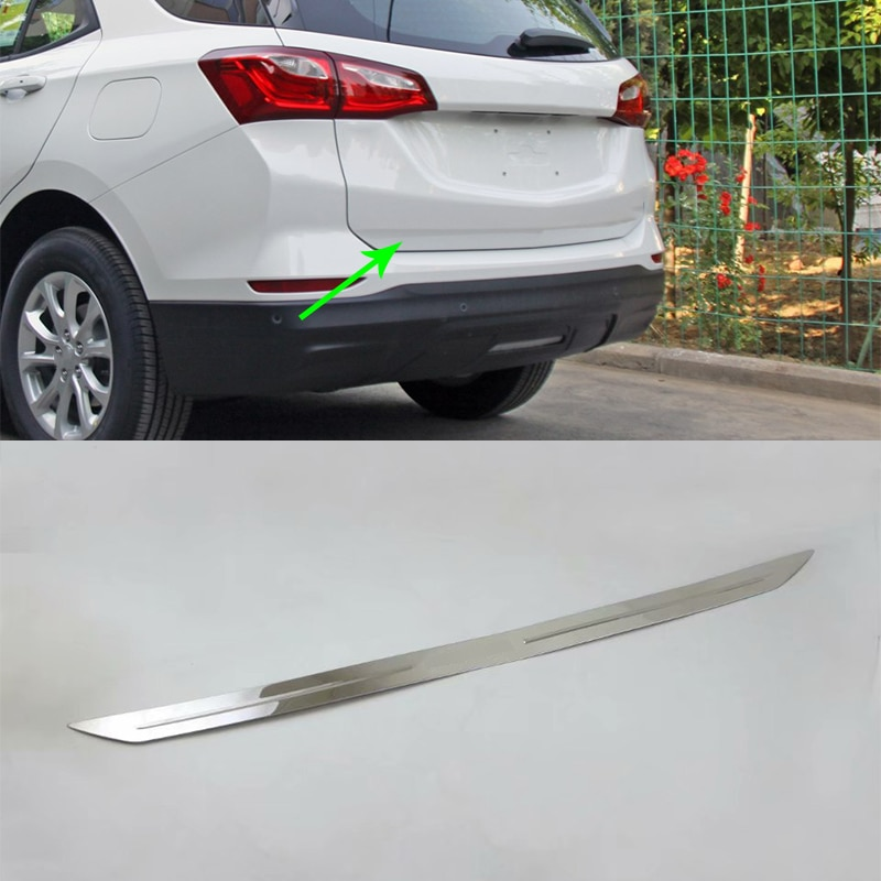 Accesorios de coche decoración Exterior Acero inoxidable puerta trasera moldura para Chevrolet equinocx 2017